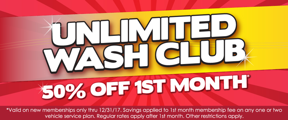Car Wash - Unlimited Wash Club Promotion