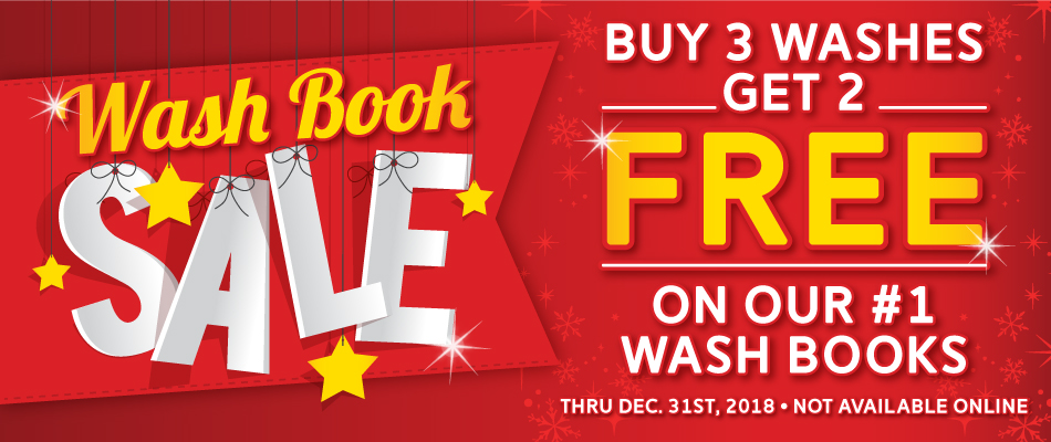Car Wash - Wash Book Sale